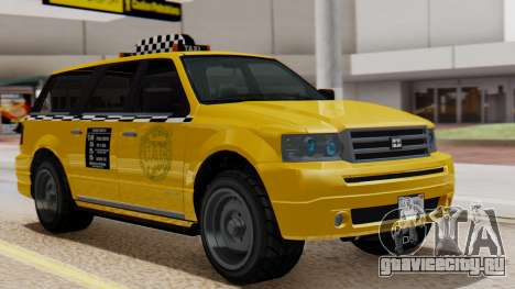 Landstalker Taxi SR 4 Style Flatshadow для GTA San Andreas