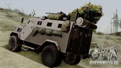 SPM-3 from Battlefiled 4 для GTA San Andreas вид слева