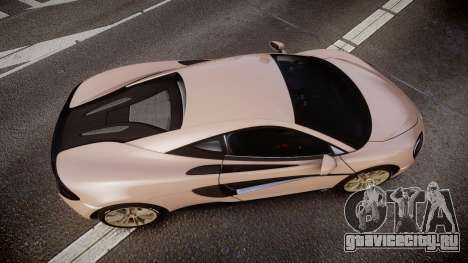 McLaren 570S 2015 rims1 для GTA 4 вид справа