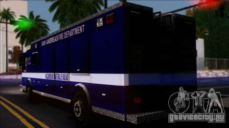 FDSA Hazardous Materials Squad Truck для GTA San Andreas вид слева