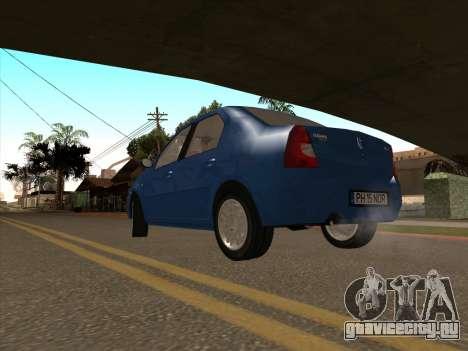 Dacia Logan Prestige для GTA San Andreas вид сзади слева
