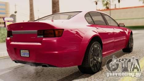 GTA 5 Cheval Fugitive для GTA San Andreas вид слева