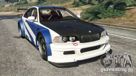 BMW M3 GTR E46 Most Wanted v1.2 для GTA 5