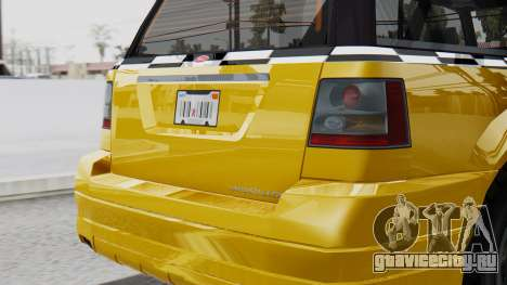 Vapid Landstalker Taxi SR 4 Style Flatshadow для GTA San Andreas вид справа