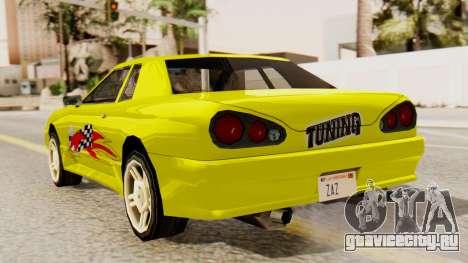Винил для Elegy - Sport для GTA San Andreas вид слева