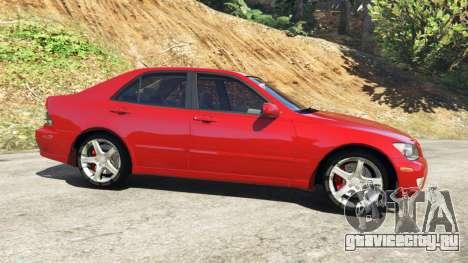 Lexus IS300 для GTA 5 вид слева