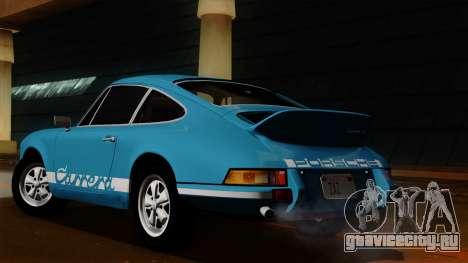 Porsche 911 Carrera RS 2.7 Sport (911) 1972 HQLM для GTA San Andreas вид сзади