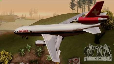 DC-10-30 Swissair для GTA San Andreas вид слева