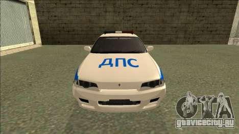 Nissan Skyline R32 Russian Police для GTA San Andreas вид справа