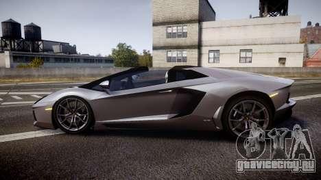 Lamborghini Aventador Roadster для GTA 4 вид слева