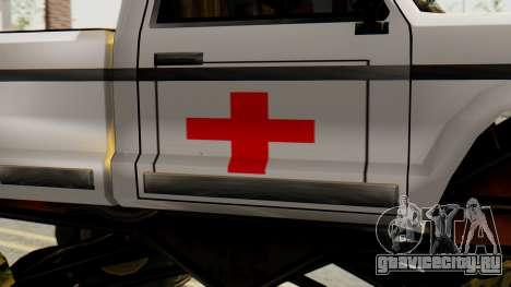 Новая оригинальная покраска для Monster A для GTA San Andreas вид справа