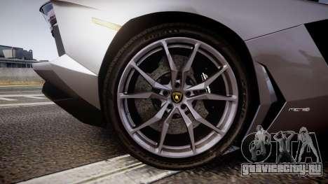 Lamborghini Aventador Roadster для GTA 4 вид сзади