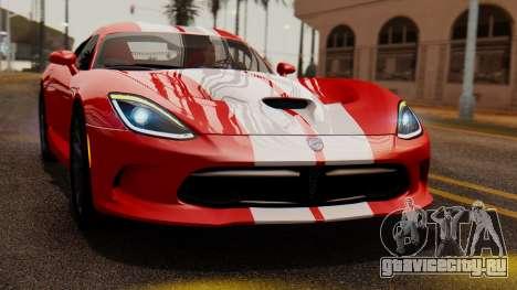 Dodge Viper SRT GTS 2013 IVF (MQ PJ) LQ Dirt для GTA San Andreas вид справа