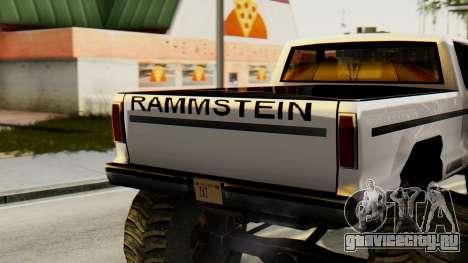 Новая оригинальная покраска для Monster A для GTA San Andreas вид сзади слева
