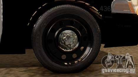 Police LS 2013 для GTA San Andreas вид сзади слева