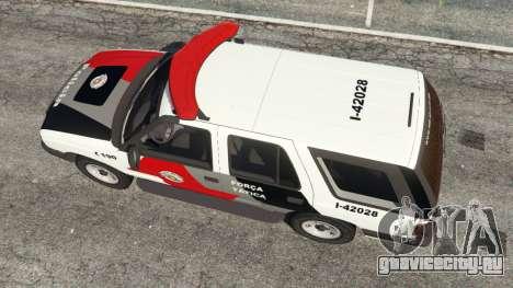Chevrolet Blazer Sao Paulo State Police для GTA 5 вид сзади