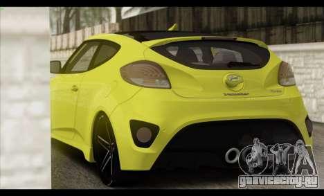 Hyundai Veloster 2012 для GTA San Andreas салон