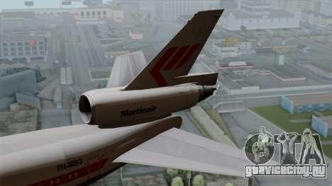 DC-10-30 Martinair для GTA San Andreas вид сзади слева