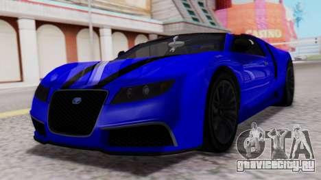 GTA 5 Truffade Adder Convertible для GTA San Andreas