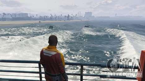 Большие волны v1.1 для GTA 5 второй скриншот