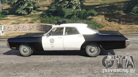 Dodge Polara 1971 Police v3.0 для GTA 5 вид слева
