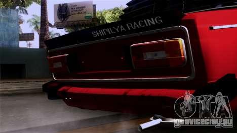 ВАЗ 2106 БК для GTA San Andreas вид сзади