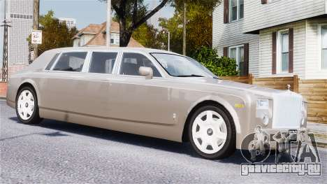 Rolls-Royce Phantom LWB для GTA 4 вид сбоку