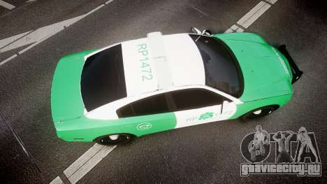 Dodge Charger Carabineros de Chile [ELS] для GTA 4 вид справа