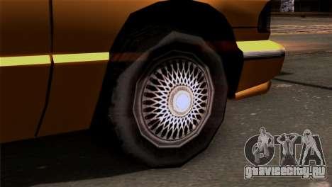 Taxi Kuruma 0.9 для GTA San Andreas вид сзади слева