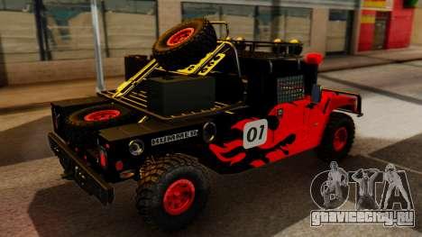 Hummer H1 1993 Baja Edition для GTA San Andreas вид сзади слева
