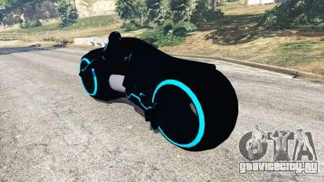 Tron Bike blue для GTA 5 вид сзади слева