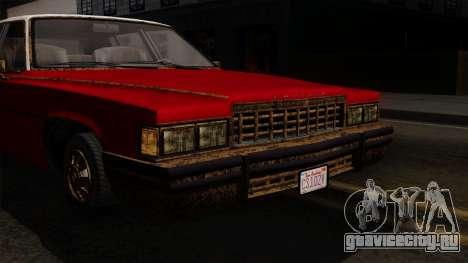 GTA 5 Albany Emperor Worn IVF для GTA San Andreas вид сзади