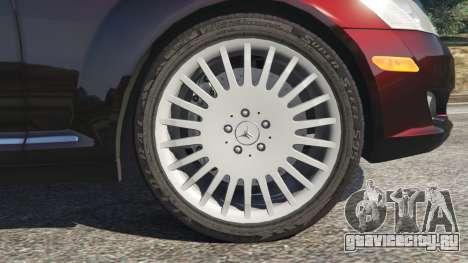 Mercedes-Benz S500 W221 v0.4 [Alpha] для GTA 5 вид сзади справа