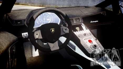 Lamborghini Aventador Roadster для GTA 4 вид изнутри