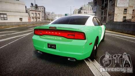Dodge Charger Carabineros de Chile [ELS] для GTA 4 вид сзади слева