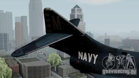 Grumman F9F-5 Phanter для GTA San Andreas вид сзади слева
