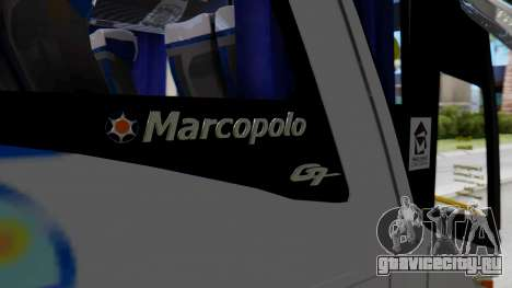 Marcopolo Bus Caribbean Travel для GTA San Andreas вид сзади