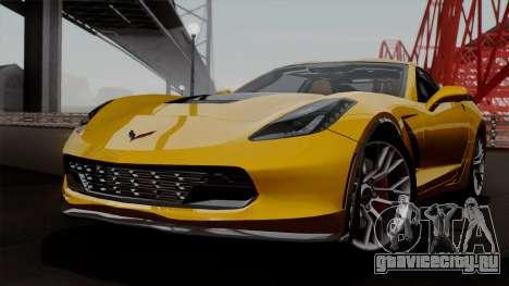 Chevrolet Corvette Z06 1.0.1 для GTA San Andreas вид сбоку