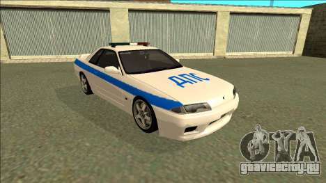 Nissan Skyline R32 Russian Police для GTA San Andreas вид слева