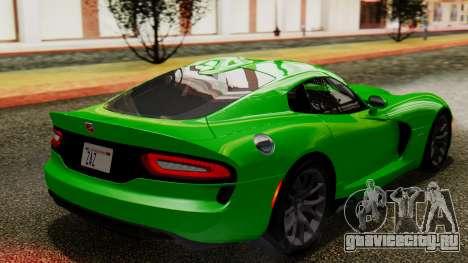 Dodge Viper SRT GTS 2013 IVF (MQ PJ) No Dirt для GTA San Andreas вид слева