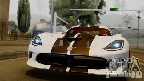 Dodge Viper SRT GTS 0013 IVF (HQ PJ) LQ Dirt пользу кого GTA San Andreas