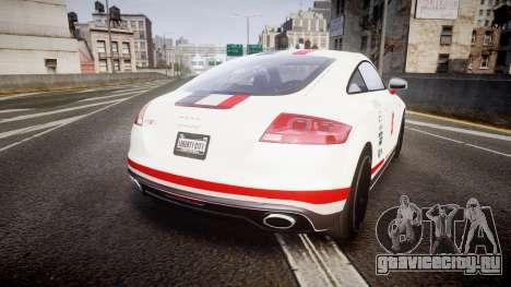 Audi TT RS 2010 Shelley для GTA 4 вид сзади слева
