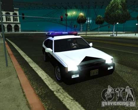 Japanese Police Car Blista для GTA San Andreas вид справа