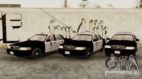 Ford Crown Victoria 2009 LAPD для GTA San Andreas
