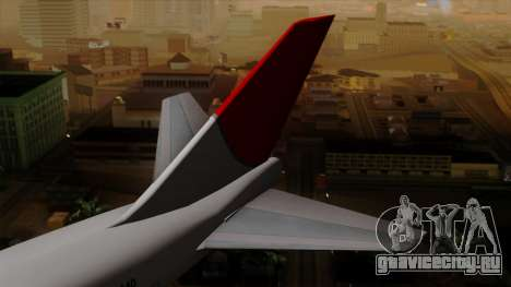 Boeing 747 JAL для GTA San Andreas вид сзади слева