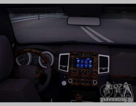 Lexus GX460 2014 для GTA San Andreas вид изнутри