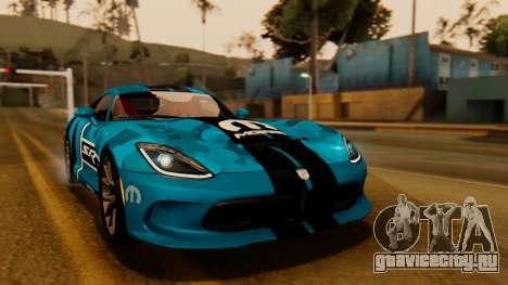 Dodge Viper SRT GTS 2013 IVF (HQ PJ) LQ Dirt для GTA San Andreas вид снизу