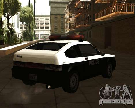 Japanese Police Car Blista для GTA San Andreas вид слева