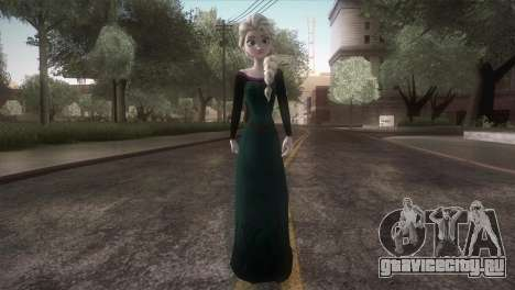 Elsa Frozen HQ Dress для GTA San Andreas второй скриншот