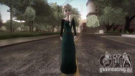 Elsa Frozen HQ Dress для GTA San Andreas второй скриншот